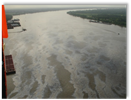 Oil sheens on the Upper Mississippi River.